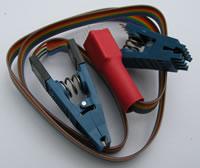Прищепка для подключения к микросхемам SOIC (SMD) со шлейфом в комплекте POMONA SOIC8 & DIP8.